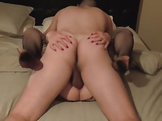 Hubby Filming his mature wife with younger guy