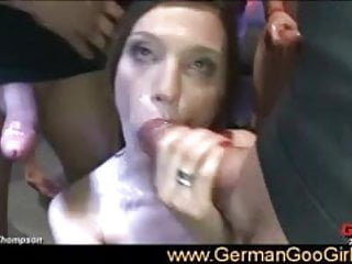 She sucked and fucked after dancing sexy