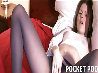 Petite Mandy Rubbing Her Pussy In Tight Pantyhose
