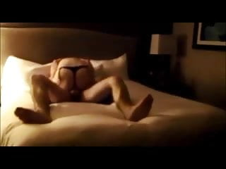 Hot brunette wife gets fucked in hotel