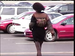 Pantyhose Voyeur -- Old Friend's Mom At Mall