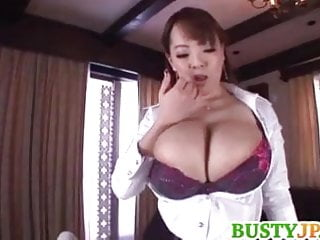 Hitomi With Huge Tits Sucks Dick