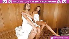 VRBangers.com - Jaye Steaming the Sauna VR PORN
