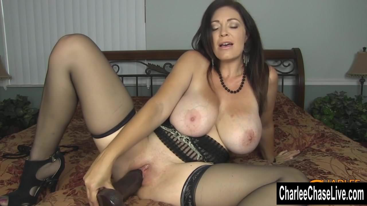Horny Big Tit Milf Charlee Chase Stuffs Pussy With Big-7801