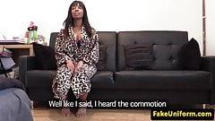 Interracial babe pussy fucking policeman