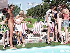 Pool Party 2 guys and 5 Czech girls Teenrs.com