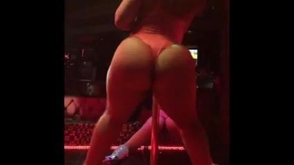 Sexy black stripper shaking that ass