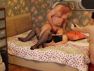 Russia Blonde MILF Arab mix Whore Threesome fun.