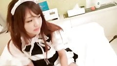 Young Maid Japanese Gets a Creampie.