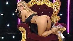 Charlene sitting on the RLC Throne