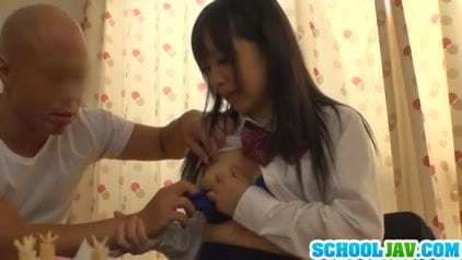 Reiko Hanasaki with juicy tits sucks cock