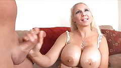 FAKE BLONDE WITH BIG FAKE TITS