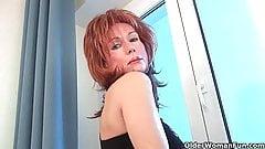 Redheaded moms crave orgasm