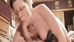 Dawna deep throats huge cock and gets cum