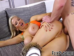 Blonde slut yearns a sweet hard cock