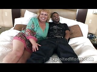 Mature granny tubes - 50 yr old mature granny horny black cock in interracial vid