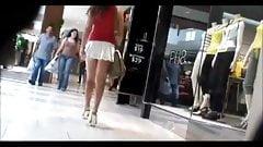 Upskirt - short white mini