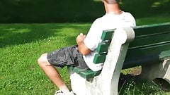 jerking in the park