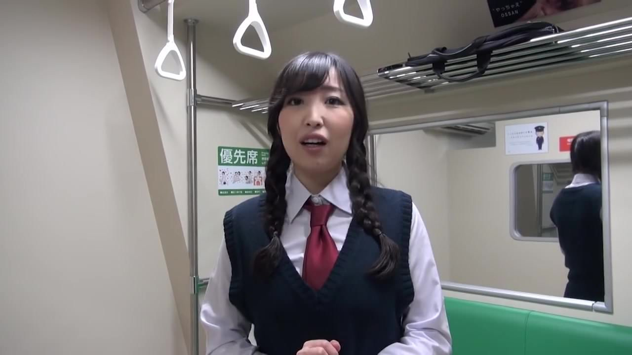 Japanese girl strips on a train 9