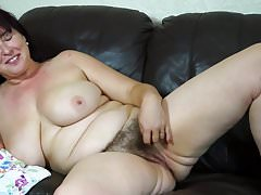 Real mature busty mother with hairy pussy Thumbnail