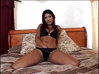 Black chick riding her dildo