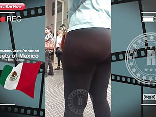 NICE TEEN BOOTY WALK IN STREET (VPL-Red Pants) 2018