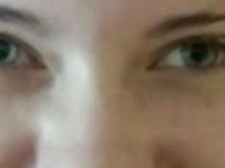 Beautiful girl takes huge facial