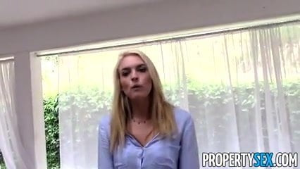 FRANCISCA: Stunning blonde realtor fucks for money