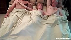 Insatiable Cock slut Granny Threesome