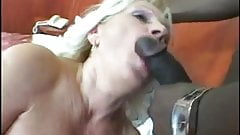 Blonde Mature Dildo and Hard Black Cock