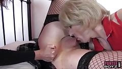 Horny crossdressing sluts enjoy sixtynine sucking big cocks