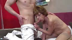 Grannies suck and fuck young big cocks