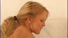 Cynthia Paul taking a bath