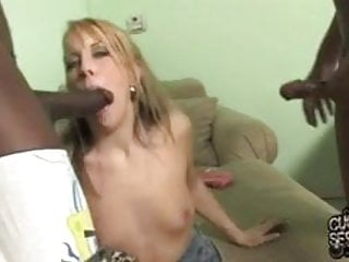 Wife made her cuckold a black jizz cleaner