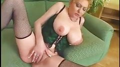 Oversize Tits Hairy Pussy Mature fucked by Bbc