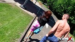 Ebony Milf Pissing In Public