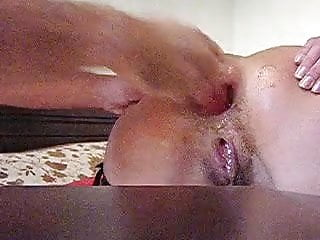 Preview 5 of Amateur wife extreme anal punch fisting and bottle fucking