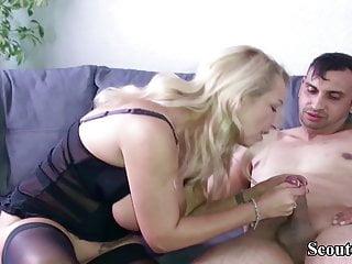 German Big Tits MILF seduce Friend of Son to Fuck her