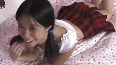 Exotic teen Asia Zo slowly strips and gives a good BJ and ti