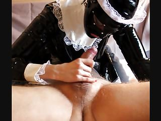 Preview 6 of Latex Maid Blow Job