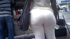 Huge Candid Phat Booty in White Pants