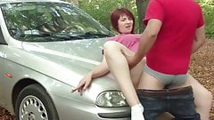 Fucked a mature chick outdoors