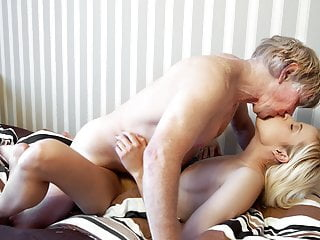 Grandpa has sweet sex with his young 19 years old girlfriend