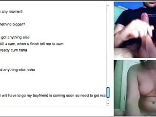 Omegle adventures 4 - firm tits and hairbrush in pussy