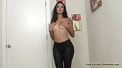 It gets me so hot when you eat your cum for me CEI