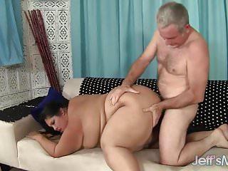 Big fat girl fucked and eats cum