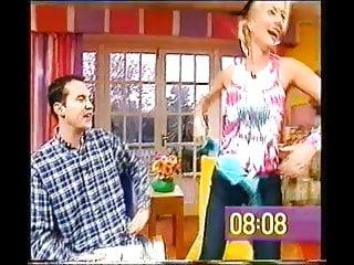 Denise V Outen Removes Bra Live TV. NN