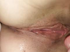 Tongue punching my wife's juicy pussy