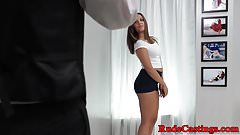 Teen beauty screwed at brutal casting