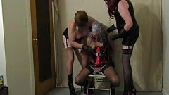 Ronni with Goddess Jennifer Rubber and Mistress Lily